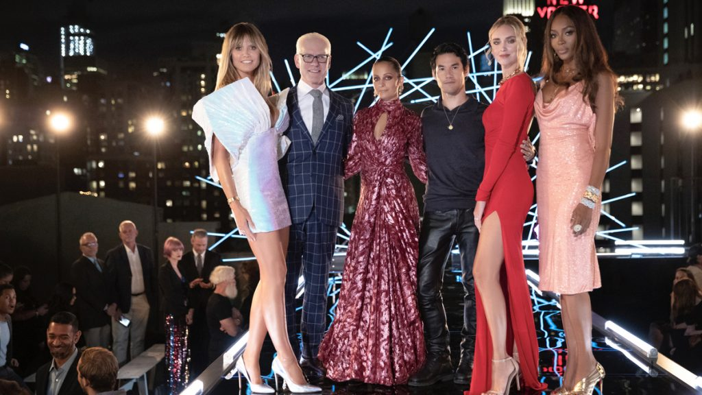 Supermodel Heidi Klum Wore Dress Of Designer Nt Tri In A Reality Show